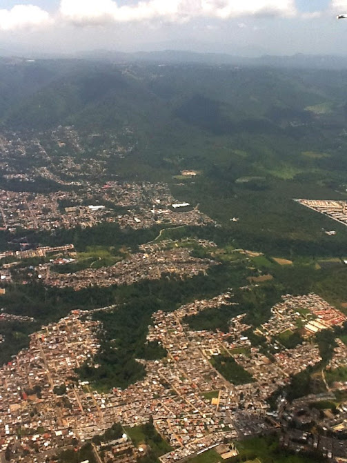 Flying into Guatemala